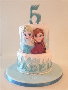 Unique Birthday Cakes, Birthday Cake Girls, Birthday Ideas, Frozen Fondant, Frozen Cake, Frozen Birthday Party, Birthday Parties, Girl Cakes, Themed Cakes