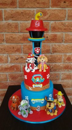 Paw Patrol cake by The Custom Piece of Cake