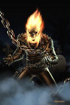 Ghost Rider: GhostRider another allie Dc Comics Art, Image Comics, Marvel Dc Comics, Marvel Heroes, Ghost Rider Johnny Blaze, Ghost Rider Marvel, Wolverine, Ghost Rider Tattoo, Ghost Raider