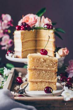 Vegan Vanilla Cake Recipe - Bianca Zapatka | Foodblog
