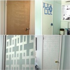 Thinking about painting my closet doors in the bedroom like this!