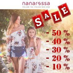 Saldi Nanarossa. Scopri tutti gli sconti!  E usa lo stesso il 15% di sconto di benvenuto! https://www.nanarossa.com/it/