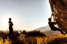 From the vault ... Early morning bouldering in Bishop