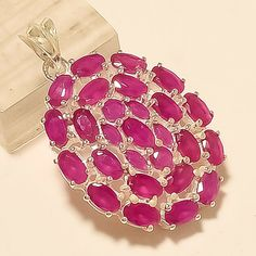 Natural Burmese Red Ruby Pendant 925 Sterling Silver New Year Fine Jewelry Gifts Wedding Jewellery Gifts, Jewelry Gifts, Ruby Jewelry, Fine Jewelry, Ruby Pendant, Pendant Jewelry, Christmas Gift Sale, Ruby Beads, 21st Gifts