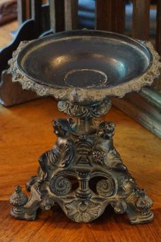 Cast Iron Cherub Display Stand