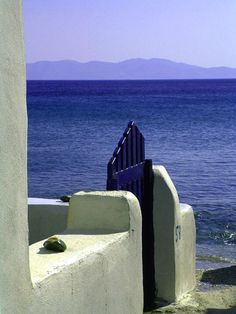 The beach just down from the village called Isternia,Tinos ,Greece. This beach is referred to as OROMOS. Greek Sea, Greek Blue, Greece Travel, Greek Islands, Santorini, Tinos Greece, Paths, Cool Photos, Places To Visit