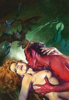 Pulp Horror Art #demon, #devil, #satan, #hell, #sin