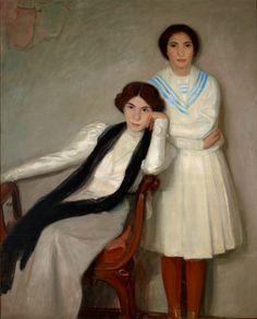 Portrait of a mother and daughter by Wojciech Weiss, 1908-1912, Muzeum Narodowe w Krakowie (MNK)