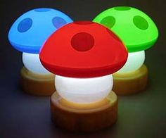Travel to the mystical mushroom kingdom every time it gets dark out with the mushroom lamps. The fanciful lamps add a touch of nostalgic surrealism to any environment while providing a light source ideal for studying or chilling out with your favorite bong.