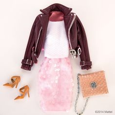 """Pink paillettes will dress up any look! #barbie #barbiestyle"""