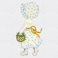 Sweet Sunbonnets Set 1 - Embroidery Playground | OregonPatchWorks