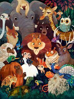 The Wondeful Wizard of Oz - иллюстрации Лорены Альварес к известной сказке.