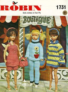 Knitting Pattern 12 inch Sindy Fashion Doll Vintage | eBay