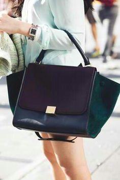 Celine Tri-color 'Trapeze' bags.