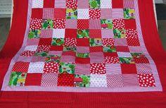 Kinderdecke Rotkäppchen von Meine bunte Flickenecke auf DaWanda.com