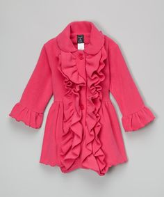 Look at this Mack & Co Hot Pink Double-Ruffle Coat - Infant & Toddler on #zulily today!