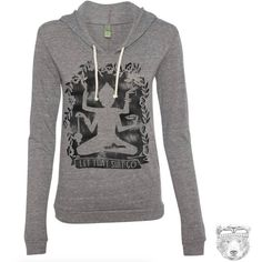 Womens Let That Sh T Go Alternative Apparel Lightweight Eco Hoody S M... ($39) ❤ liked on Polyvore featuring tops, grey, sweatshirts, women's clothing, sweater pullover, relaxed fit tops, grey top, pullover top and wrap top