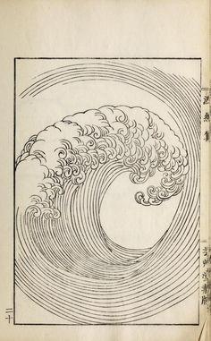 """nemfrog: """" Japanese ocean wave design. Ha Bun Shu. 1919. """" Hamon Shuu: Collection of Wave & Ripple Designs, by Yuzan Mori (Kyoto 1903) or Ha Bun Shu, by Mori Yusan (Japan 1919)"""