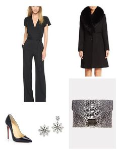 I love this chic outfit for a night out, it's a great way to style a jumpsuit!   Keatonrow.com