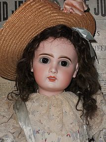 Beautiful French Bisque Bebe Jumeau Girl - WhenDreamsComeTrue #dollshopsunited