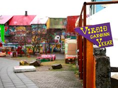 "On Laugavegur near Suomi Prkl Design, keep an eye out for a skate park tucked behind the shops (look for the purple sign reading, ""Virðið Garðin Ykkar""). Grab a coffee at Mokka Kaffi a couple of blocks away then lounge on neon playground toys and marvel at walls covered with mythical — if occasionally Goth leaning — street art."