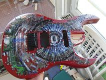 The jigsaw-puzzle body of the CMS guitar. Photo credit: Piotr Traczyk