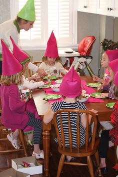 Life Frosting: Elf Workshop Party  Elf hats with bells on top
