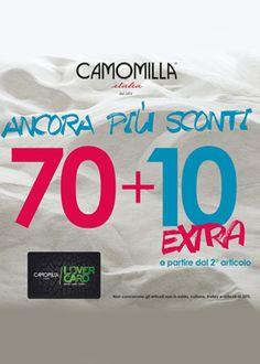 Ancora più sconti da #camomillaItalia
