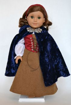 American Girl 18 Inch Doll Medieval Fantasy Fairy Tale 5-piece Outfit - Brown, Cranberry, and Navy. $95.00, via Etsy.