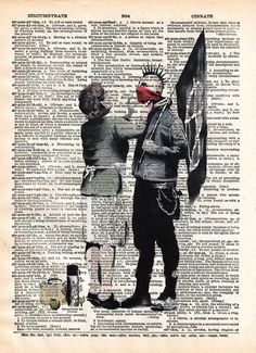 Punk Mum banksy art, punk mom anarchy print, dictionary art print, wall art - - 1