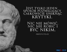 Sposób na uniknięcie krytyki - Arystoteles