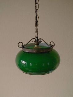 Lamp Shade アンティーク蚤の市 ラウンドペンダントランプシェード緑 インテリア 雑貨 家具 Antique ¥3600yen 〆06月06日