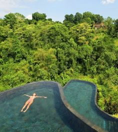 Hanging Gardens Resort, Ubud (Bali). That is breathtaking!! I love infinity pools.