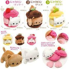Stuffed Animals Crafts DIY: Nyanko Macaroon Plush (Inspiration) kawaii plush toys and cute stuffed animals - Kawaii Diy, Kawaii Crafts, Kawaii Cute, Cute Crafts, Felt Crafts, Diy And Crafts, Desu Desu, Plushie Patterns, Softie Pattern