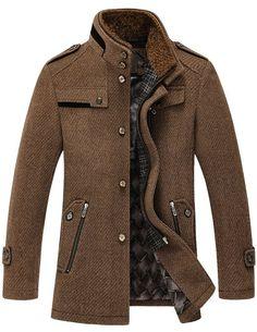 Match Mens Wool Classic Pea Coat Winter Coat at Amazon Men's Clothing store: Wool Outerwear Coats
