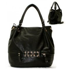 Golden Ring Hardware Purse and Bag / Handbag / Black / Rcht805blk,$40.99