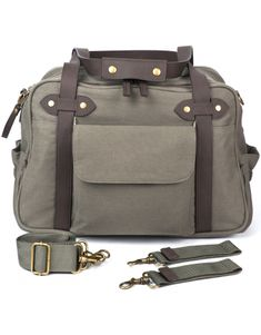 I love this diaper bag! Plus Tim and I would both be okay with carrying it. Khaki Charlie Bag - $175