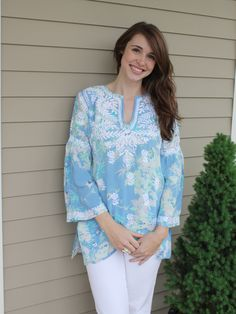Blue Silk Tunic