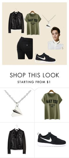 """""""maybe"""" by pinocchiohyuk ❤ liked on Polyvore featuring Yves Saint Laurent, NIKE and STELLA McCARTNEY"""