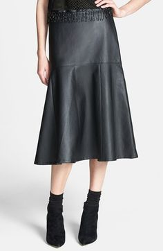 for Jenna:  Tildon Faux Leather Flared Midi Skirt available at #Nordstrom (size xs)