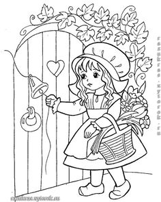 Cinderella Coloring Pages, Barbie Coloring Pages, Pattern Coloring Pages, Cute Coloring Pages, Disney Coloring Pages, Coloring For Kids, Coloring Sheets, Adult Coloring, Coloring Books