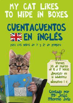 Al gato de Mª Jesús, una de nuestras mamás, le gusta esconderse en cajas y ella nos lo cuenta en inglés. Para bailar, aprender inglés y divertirnos.
