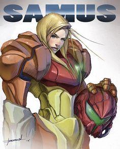 Samus - Super Metroid, Chevron Lowery on ArtStation at https://www.artstation.com/artwork/samus-super-metroid