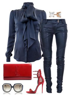 A fashion look from October 2015 by featuring Safiyaa Balmain Giuseppe Zanotti Yves Saint Laurent Allurez and Marni Classy Outfits, Chic Outfits, Fall Outfits, Fashion Outfits, Womens Fashion, Fashion Trends, Beautiful Outfits, Mode Style, Style Me