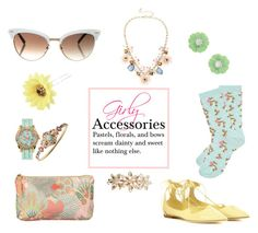 """Girly Accessories"" by horse-dance-princess on Polyvore featuring Gucci, Mixit, Jimmy Choo, Irene Neuwirth, New Look, Marchesa, Dorothy Perkins, Chicnova Fashion and Jessica Carlyle"