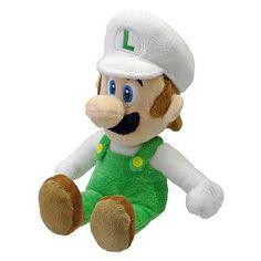 Super Mario 9-Inch Fire Luigi Plush
