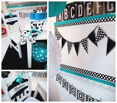 Cute turquoise and black classroom theme!