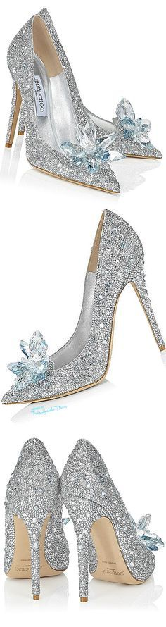 Crush Of The Day: Jimmy Choo Crystal Covered 'Cinderella Sli.- Crush Of The Day: Jimmy Choo Crystal Covered 'Cinderella Slipper' Sparkly silver Cinderella heels (Jimmy Choo) - Pretty Shoes, Beautiful Shoes, Cute Shoes, Me Too Shoes, Fancy Shoes, Dream Shoes, Crazy Shoes, Cinderella Slipper, Cinderella Heels