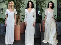 Sarah Seven proves casual can be contemporary in her Fall 2016 wedding dress collection.