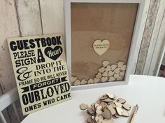Personalised drop top guest book 100 x hearts